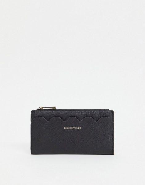 Paul Costelloe - Geldbörse aus Leder in Schwarz mit Bogenkante