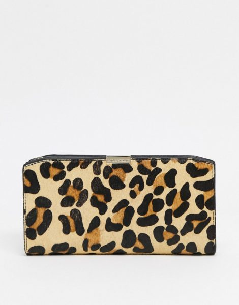 Paul Costelloe - Geldbörse aus Leder mit Leopardenmuster-Braun