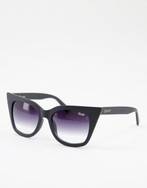 Quay - Harper - Cat-Eye-Sonnenbrille für Damen in Schwarz