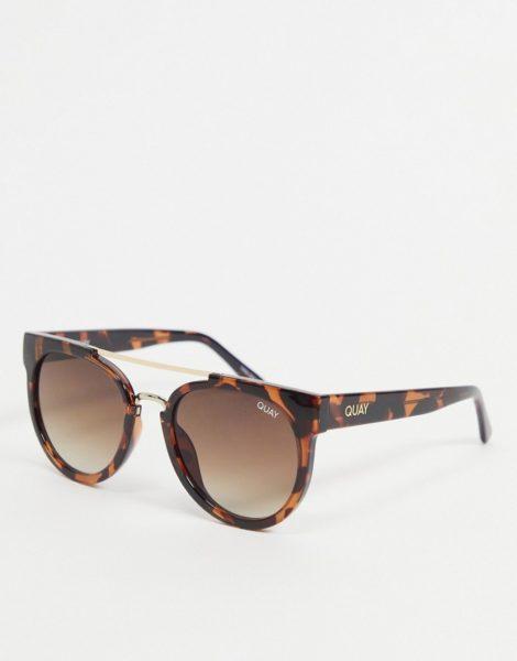 Quay - Odin - Runde Sonnenbrille für Damen in Schildpattoptik-Braun