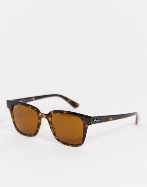 Ray-Ban - 0RB4323 - Wayfarer-Sonnenbrille in Schildpatt-Optik-Braun