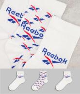 Reebok Classics - Crew-Socken in Weiß im 3er-Pack