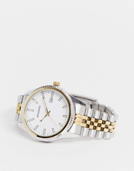 Sekonda - Armbanduhr aus verschiedenen Metallen-Silber