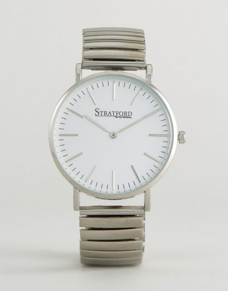 Stratford - Armbanduhr-Silber