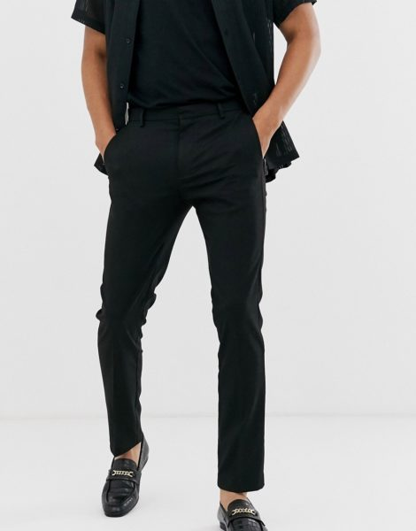 Topman - Enge, elegante Hose in Schwarz