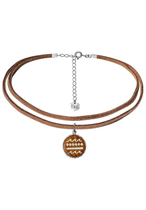 float Choker Vegan Lthr Msc - Halskette für Damen - Braun