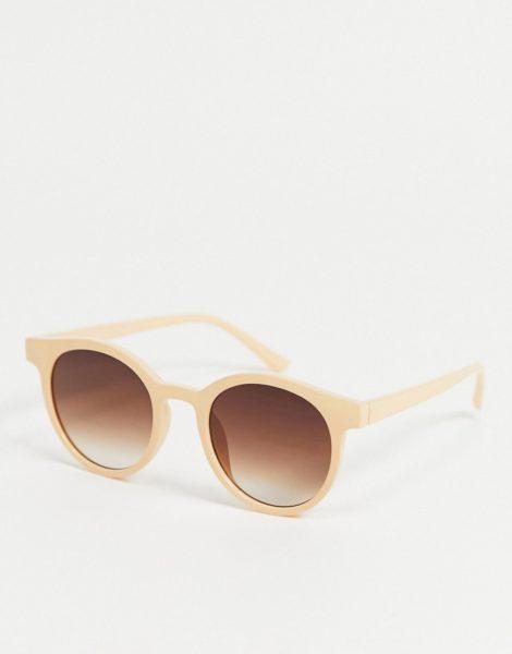 AJ Morgan - Runde Damen-Sonnenbrille in Beige-Neutral