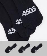 ASOS 4505 - Unsichtbare Socken mit antibakterieller Oberfläche im 3er-Pack-Schwarz