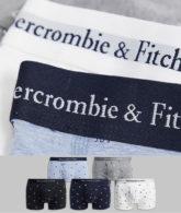 Abercrombie & Fitch - 5er-Set Unterhosen mit Logo-Bund in Marineblau/Grau/Blau/Weiß/Schwarz-Mehrfarbig