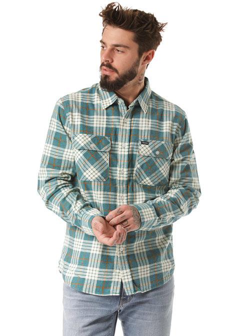 BRIXTON Bowery Lw L/S Flannel - Hemd für Herren - Blau