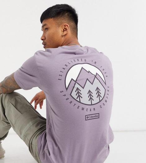 Columbia - Tillamook - T-Shirt in Violett, exklusiv bei ASOS-Lila