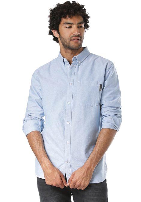 DC The Oxford 2 L/S - Hemd für Herren - Blau