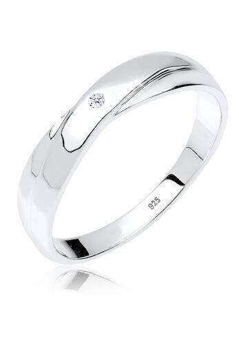 DIAMORE Ring Geschenkidee Diamant 0.02 ct. 925 Silber, Weiß, Weiß