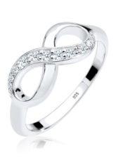 DIAMORE Ring Infinity Diamant 0.18 ct. Geschenkidee 925 Silber, Weiß, Weiß