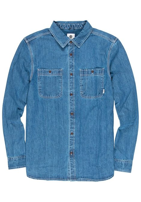 Element Pace Denim L/S - Hemd für Herren - Blau