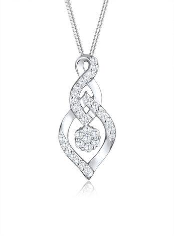 Elli PREMIUM Halskette Infinity Zirkonia Geschenkidee 925 Silber, 45 cm
