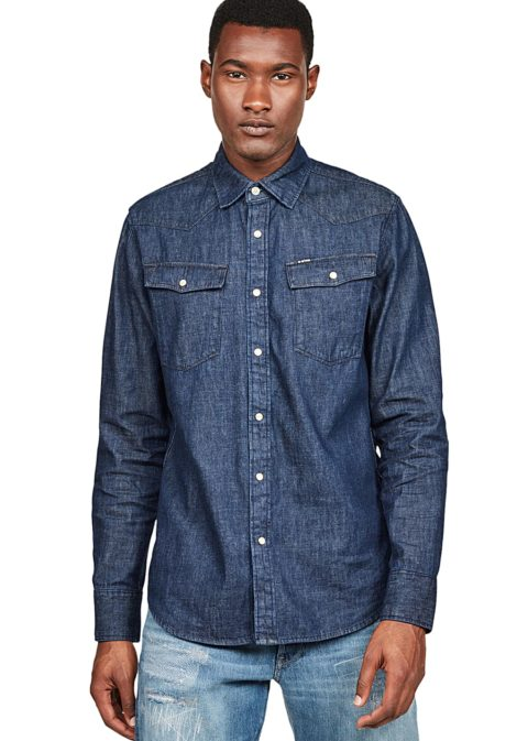 G-STAR RAW 3301 Slim - Hemd für Herren - Blau