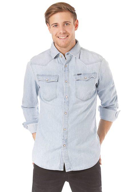 G-STAR RAW 3301 Slim Lt Wt Craser 7 Oz - Hemd für Herren - Blau