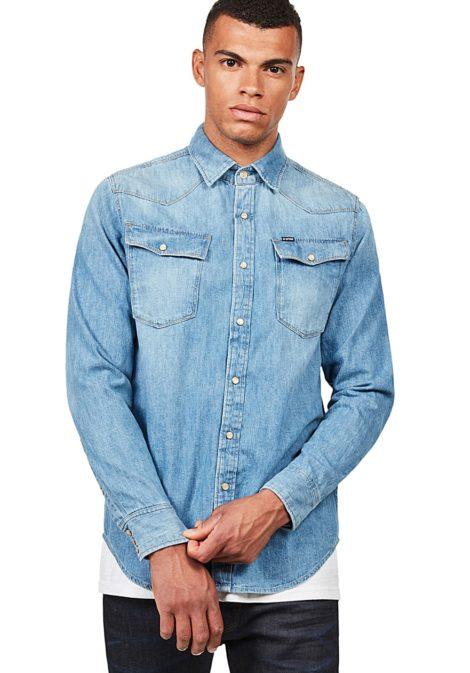 G-STAR RAW 3301 Straight - Hemd für Herren - Blau