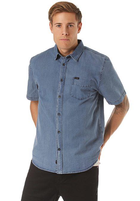 Globe Tidal S/S - Hemd für Herren - Blau