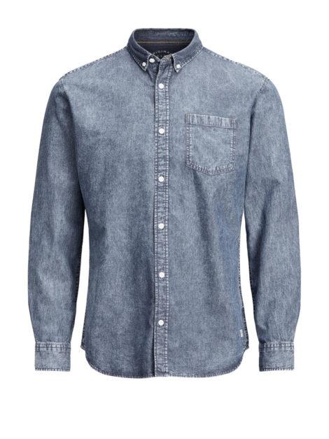 JACK & JONES Jeans Hemd Herren Blau