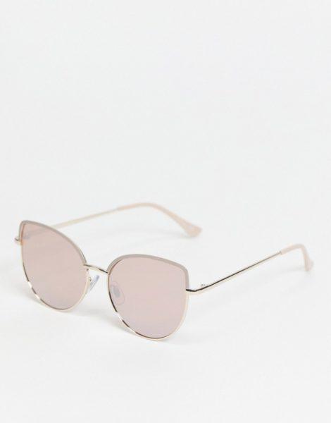 Jeepers Peepers - Cat-Eye-Sonnenbrille für Damen in Rosa mit getönten Gläsern