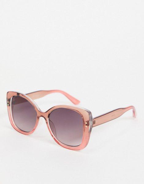 Jeepers Peepers - Eckige Damen-Sonnenbrille in Rosa