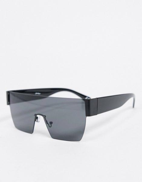 Jeepers Peepers - Eckige Visor-Sonnenbrille in Schwarz