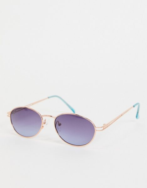 Jeepers Peepers - Runde Damen-Sonnenbrille in Gold-Goldfarben