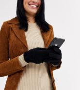 My Accessories - London -Exklusive schwarze Touch-Screen-Handschuhe