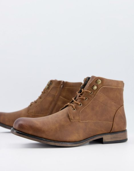 New Look - Robuste Stiefel in Braun