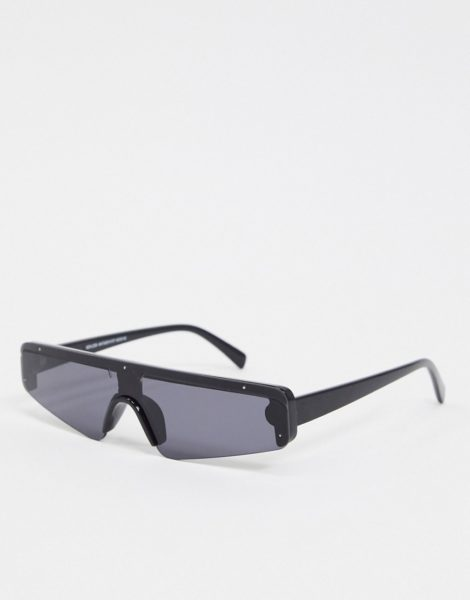 New Look - Schwarze Visor-Sonnenbrille