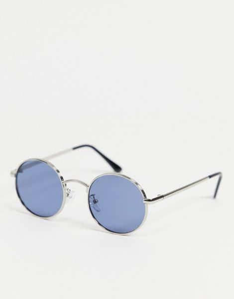 Only & Sons - Runde Sonnenbrille in Silber
