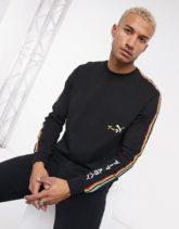 Puma - Unity - Langärmliges T-Shirt in Schwarz