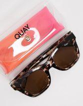 Quay Australia - After Hours - Eckige Oversize-Sonnenbrille für Damen-Braun