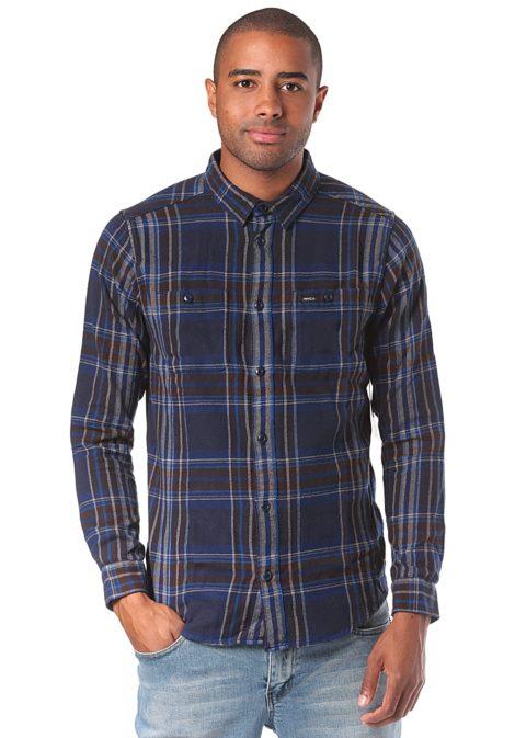 RVCA Ludlow Flannel L/S - Hemd für Herren - Blau