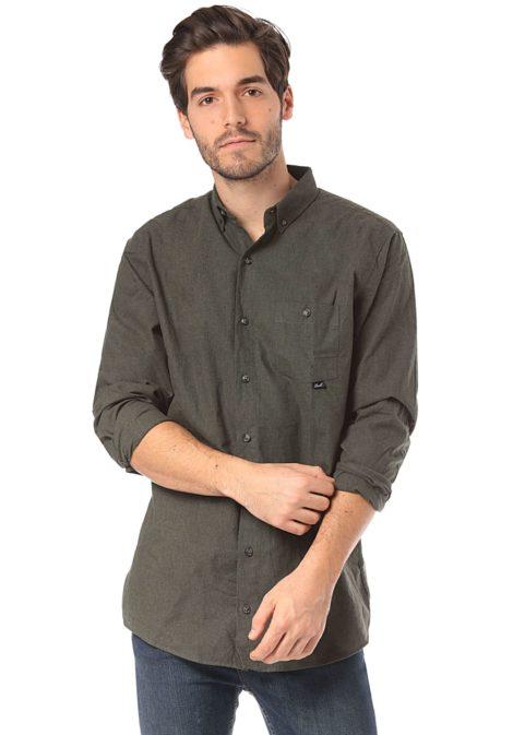 Reell Melange AW18 - Hemd für Herren - Grün