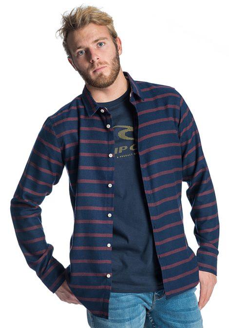 Rip Curl Stroked Vc L/S - Hemd für Herren - Blau