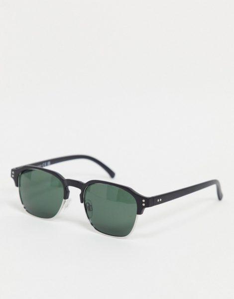 River Island - Schwarze Retro-Sonnenbrille