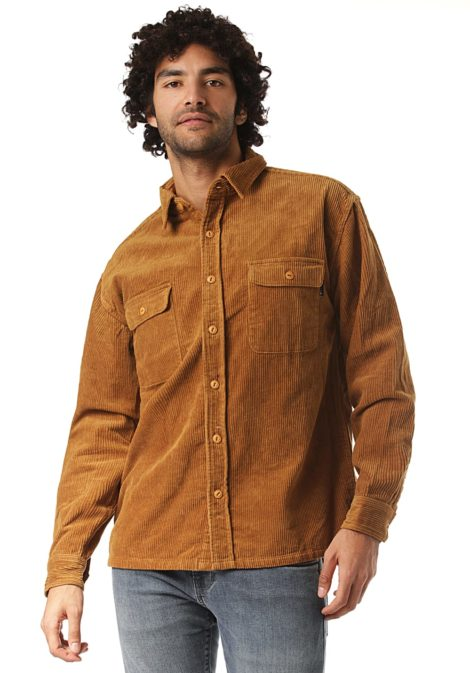 Rusty Corduroy Coop - Hemd für Herren - Braun