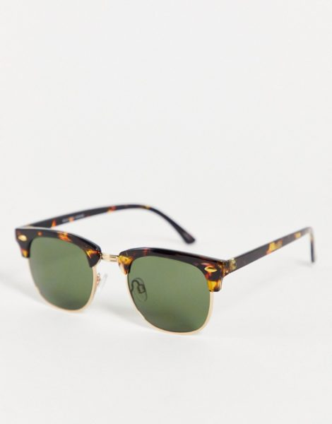 Selected Homme - Braune Retro-Sonnenbrille
