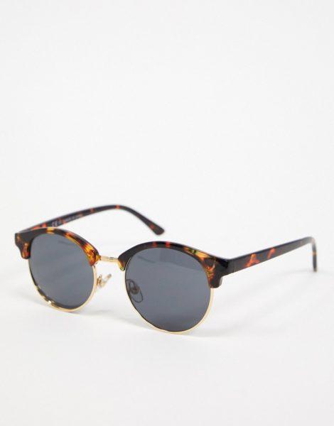 Topman - Runde Sonnenbrille in Schildplatt-Braun