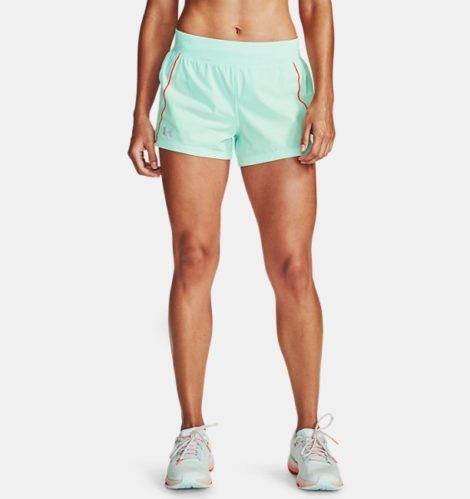 Under Armour Damen UA Qualifier Shorts mit Speedpocket Blau XS