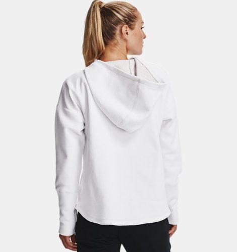 Under Armour Damen UA RECOVER™ Fleece Hoodie mit durchgehendem Zip Weiß MD