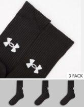 Under Armour - Training Core - Crew-Socken in Schwarz im 3er-Pack