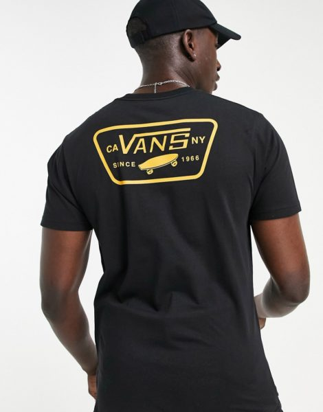 Vans - Full Patch - T-Shirt mit rückseitigem Print in Schwarz