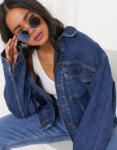 Vans - Right Angle - Silberne Sonnenbrille mit blau verspiegelten Gläsern