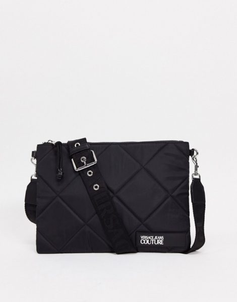 Versace Jeans - Couture - Gesteppte Geldbörse in Schwarz