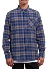 Volcom Caden Plaid L/S - Hemd für Herren - Blau