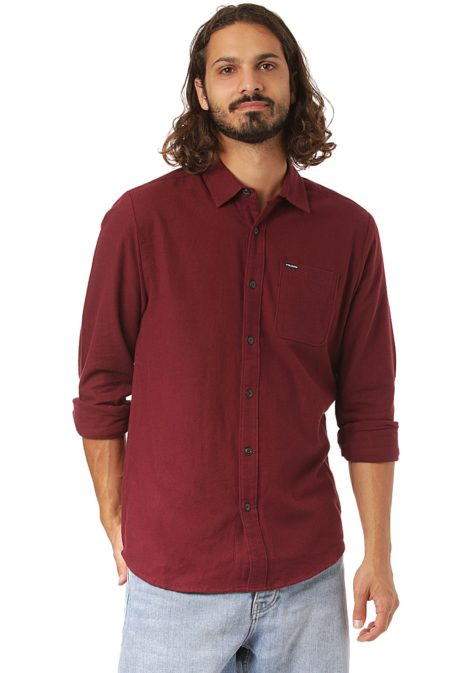 Volcom Caden Solid - Hemd für Herren - Rot